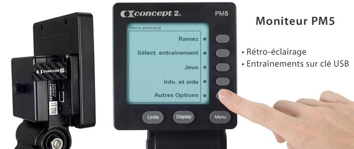 Concept2 Modèle D avec écran PM5 Noir