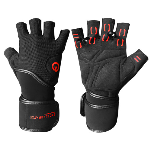 Excellerator Weightlifting gloves with Wrist Support