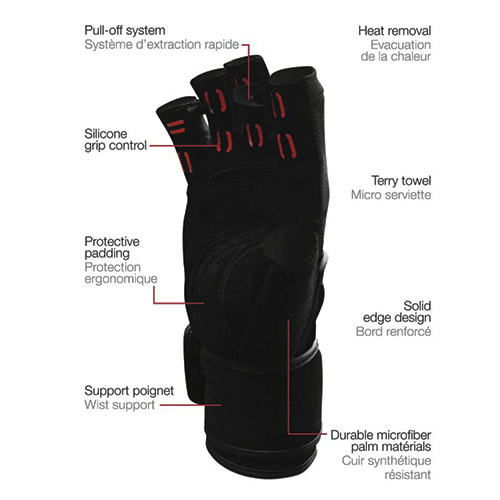 Détails Excellerator Weightlifting gloves with Wrist Support