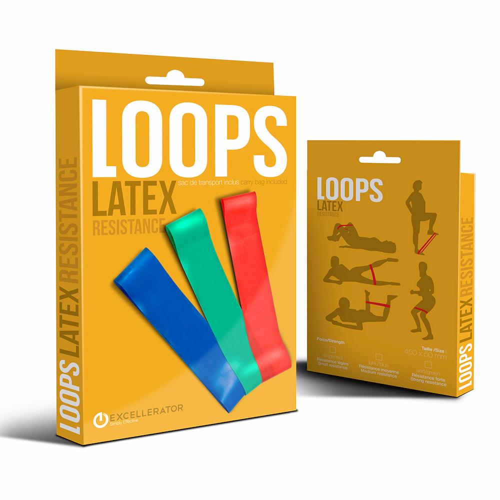 Détails Excellerator Bandes de résistance Loops Latex
