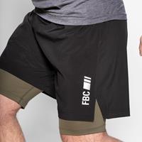 Shorts Sprint Short Charbon Vert Combat FBC - Fitnessboutique