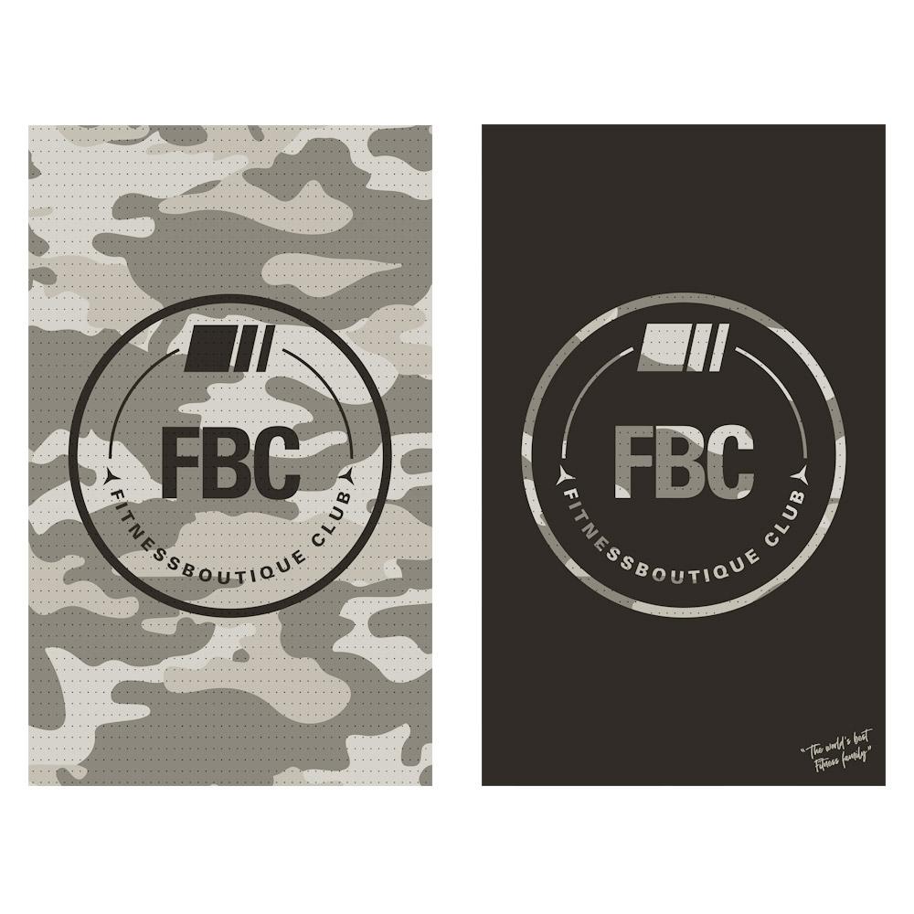 FBC IKON Serviette de Sport Camo Black