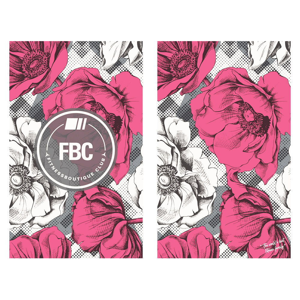 FBC IKON Serviette de Sport Floraison