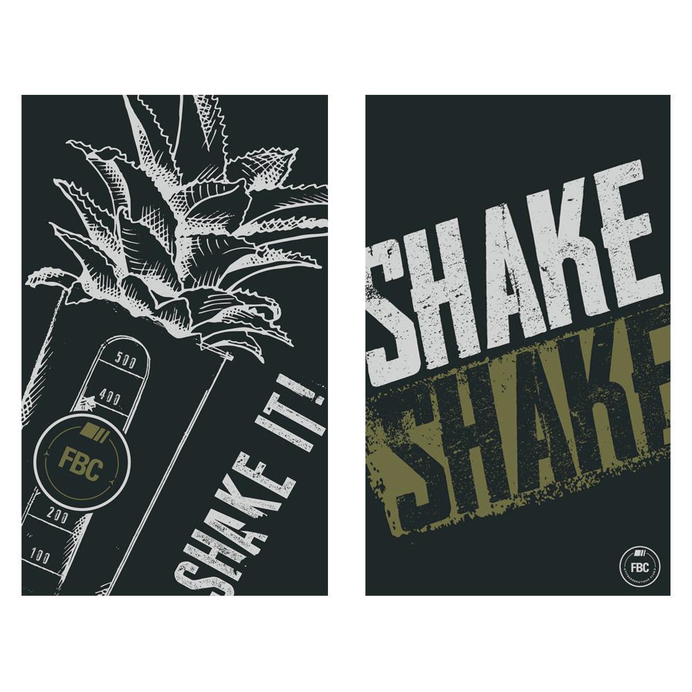 FBC IKON Serviette de Sport Shake IT Black