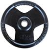 Musculation Disque olympique 15 kg caoutchouc noir
