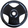 Musculation Disque olympique 5kg caoutchouc noir