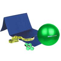 Médecine Ball et Balle lestée FITNESSBOUTIQUE Pack Abdos Fessiers 1 kg
