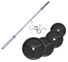 Musculation Pack Poids Olympiques 110 kg + barre + stop disques