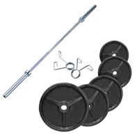 Olympique - Diamètre 51mm Pack Poids Olympiques 140 kg + barre + stop disques