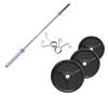 Musculation FITNESS DOCTOR Pack Poids Olympiques 70 kg + barre + stop disques