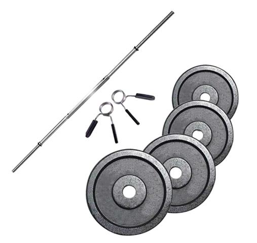 Fitness Doctor Pack Barre de 1,52 m + Poids 70 kg