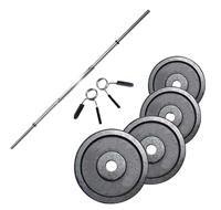 Standard - Diamètre 28mm Fitness Doctor Pack Barre de 1,52 m + Poids 40 kg