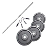 FITNESS DOCTOR Pack Barre de 1,52 m + Poids 40 kg