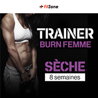 Coaching Trainer Burn Femme 8 Semaines FITZONE - Fitnessboutique
