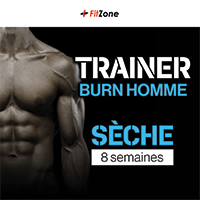 Coaching Trainer Burn Homme 8 Semaines FITZONE - Fitnessboutique