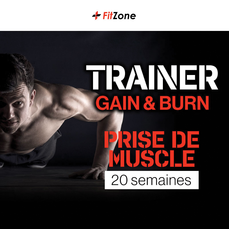 FITZONE Trainer Gain & Burn Homme 20 Semaines