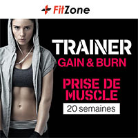 Coaching FITZONE Trainer Gain & Burn Femme 20 Semaines