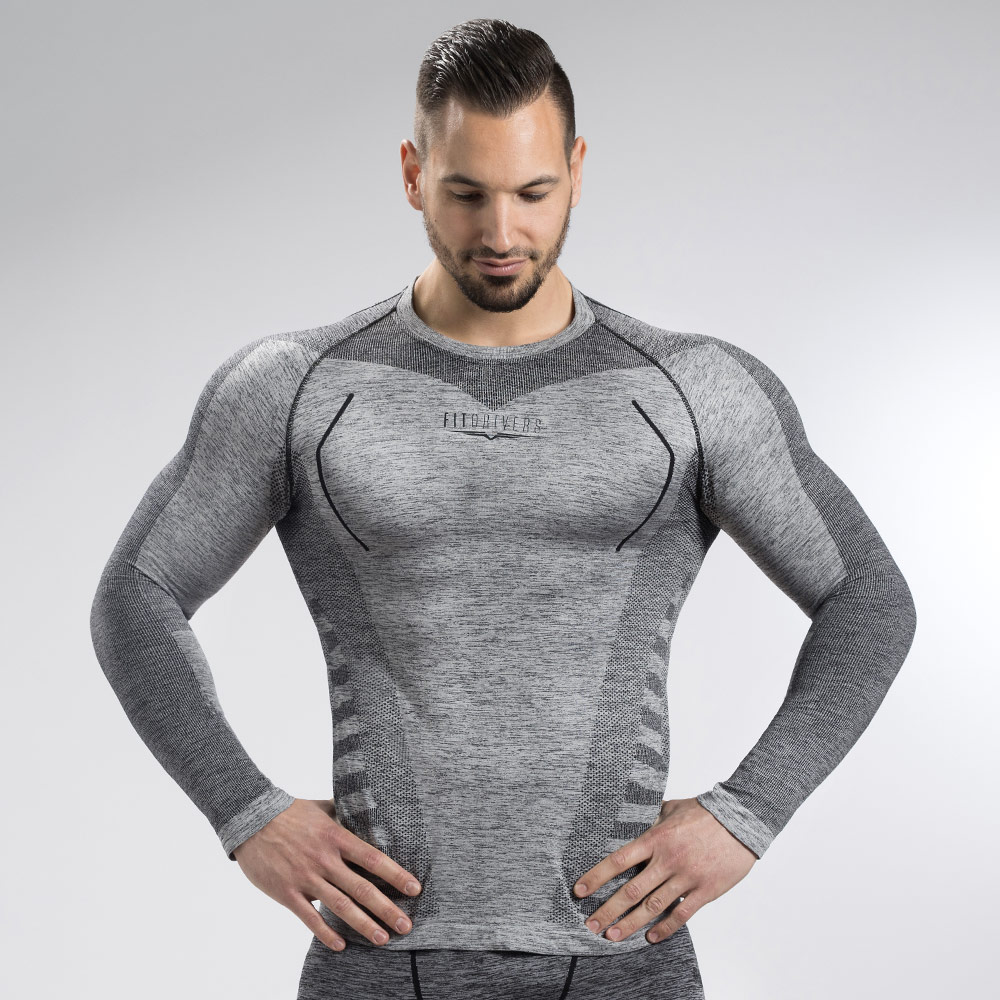 Fit Drivers T Shirt Manches Longues Technical Compression Homme