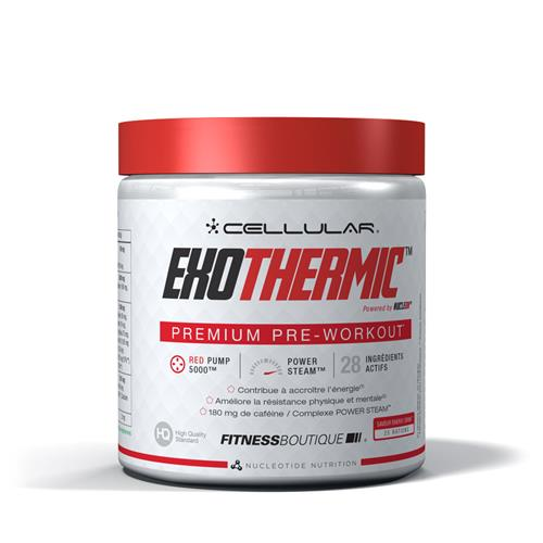 pre workout Cellular Exothermic