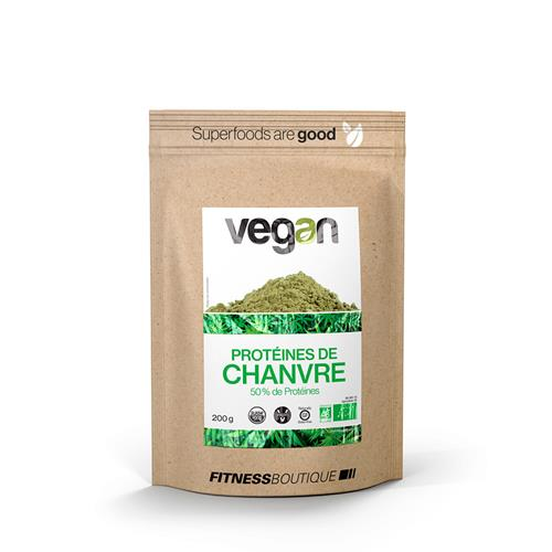 Cuisine - Snacking Vegan Proteines de Chanvre 50 % Cru et BIO