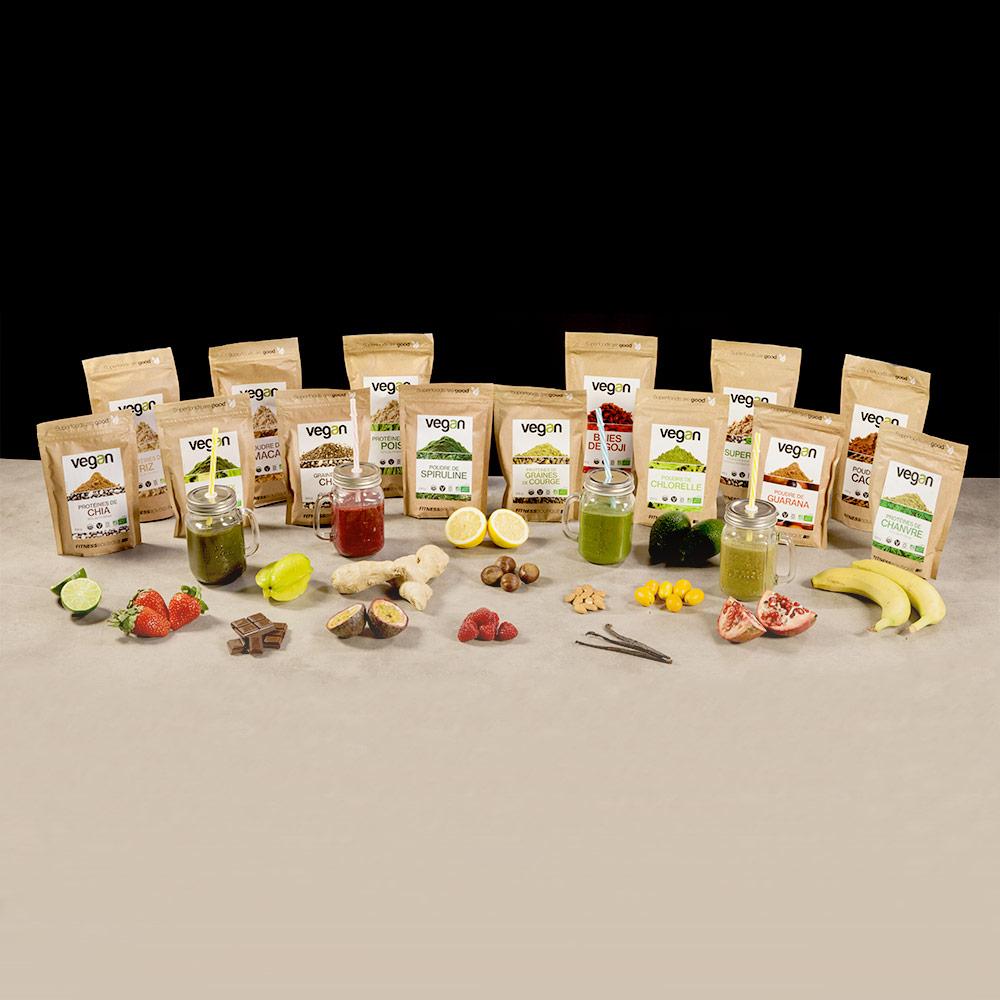 Vegan Proteines de Chanvre 50 % Cru et BIO