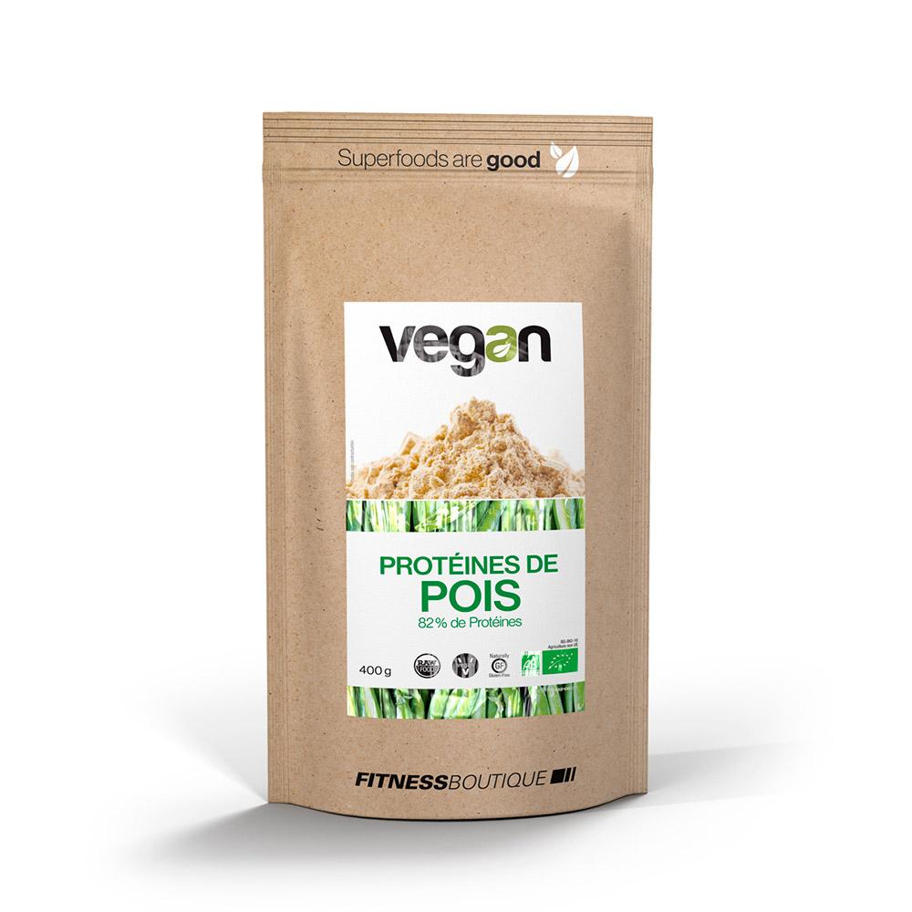 Vegan Proteines de Pois 80 % Cru et BIO