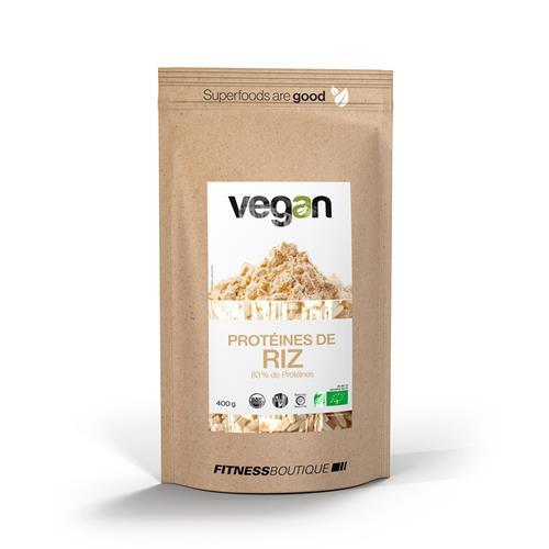 Cuisine - Snacking Vegan Proteines de Riz 83 % Cru et BIO