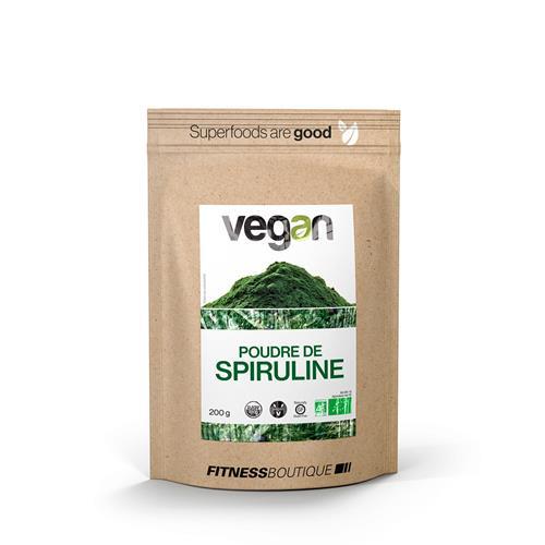 Régime Vegan / Végétarien Vegan Poudre de Spiruline Crue et BIO