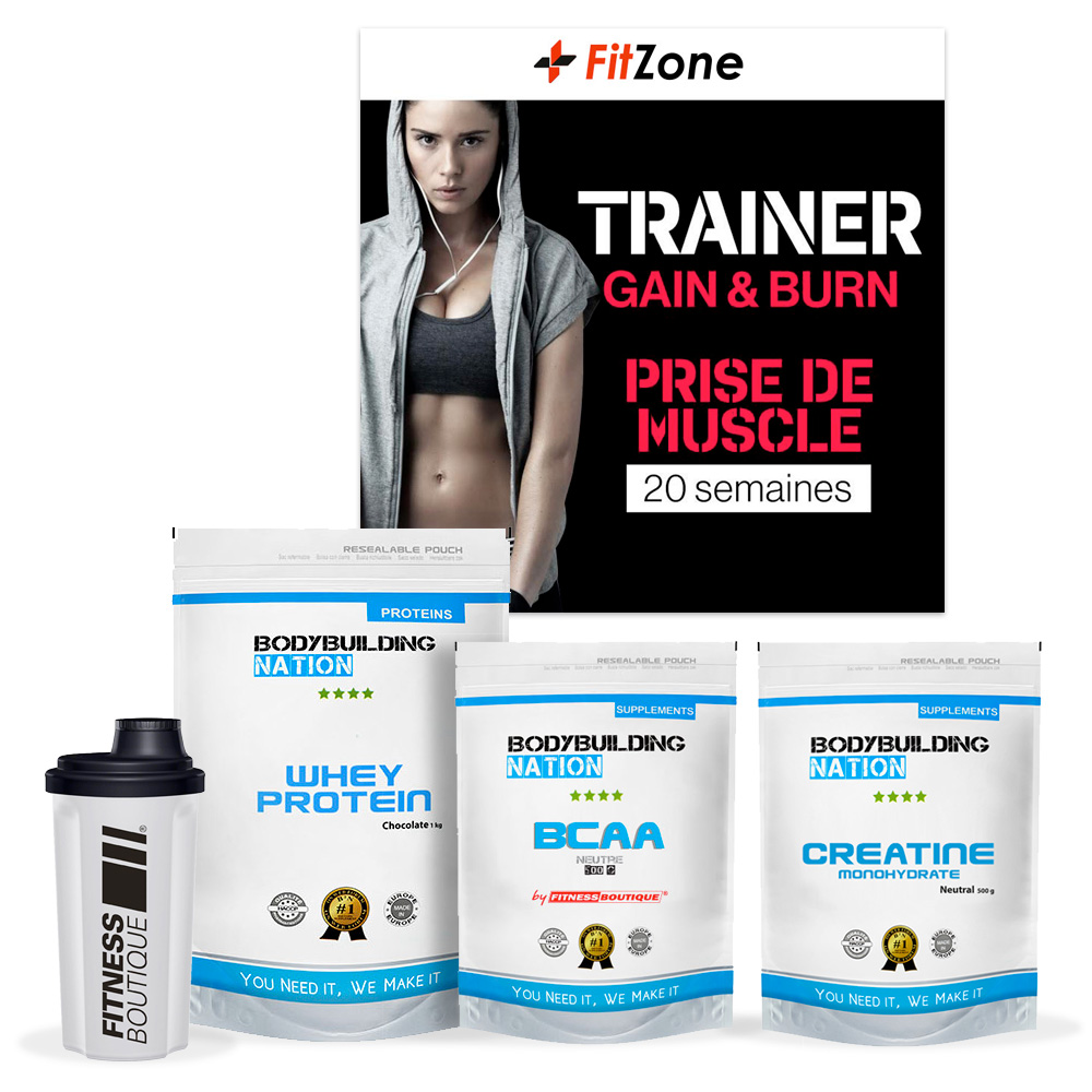 FITZONE Pack Fitzone BBN Prise de Muscle Femme 20 Semaines