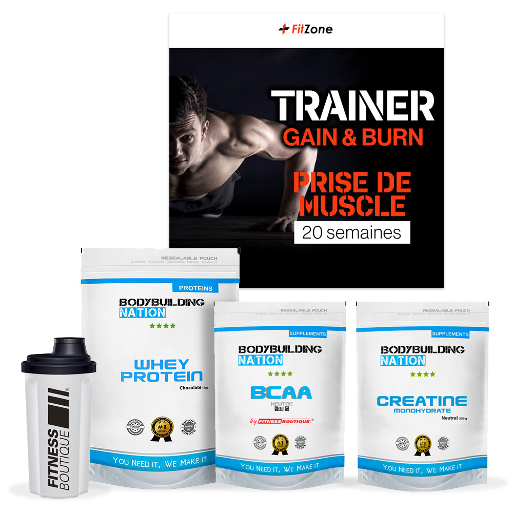 FITZONE Pack Fitzone BBN Prise de Muscle Homme 20 Semaines