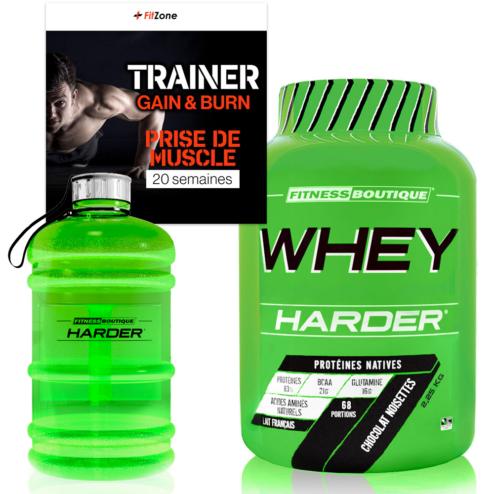 FITZONE Pack Fitzone Harder Prise de Muscle Homme 20 Semaines