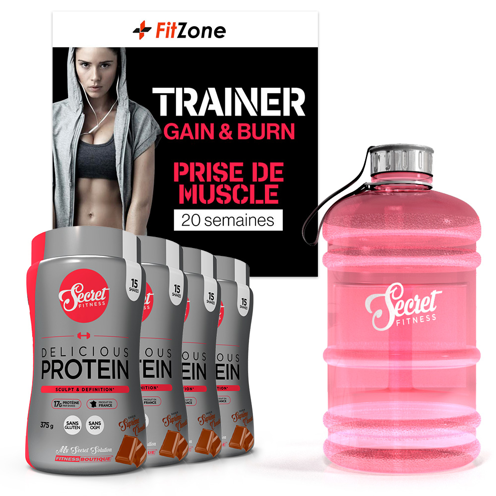 FITZONE Pack Fitzone Secret Prise de Muscle Femme 20 Semaines