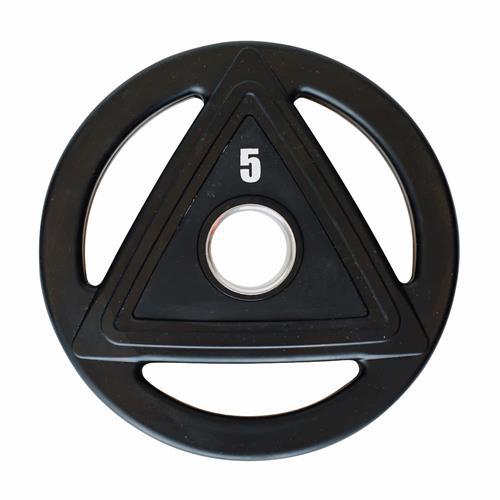 Disque Olympique - Diamètre 51mm Heubozen Disque caoutchouc olympique 5 kg Noir