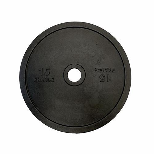 Disque Olympique - Diamètre 51mm Heubozen Disque de fonte olympique 51 mm - 15 kg