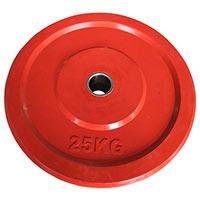 Musculation HEUBOZEN Disque Caoutchouc Olympique 25 kg Rouge