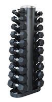 Barres, poids, haltères HEUBOZEN Pack Haltères Hexagonaux 1 à 10 kg et Rack