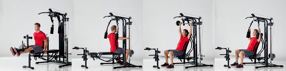 Kettler Delta XL Avec Pupitre à Biceps Poids Compatibles Diamètre 30 mm