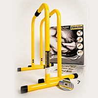 Barres - Kit Body Pump Lebert Fitness Deux Barres Jaunes, DVD et Poster inclus