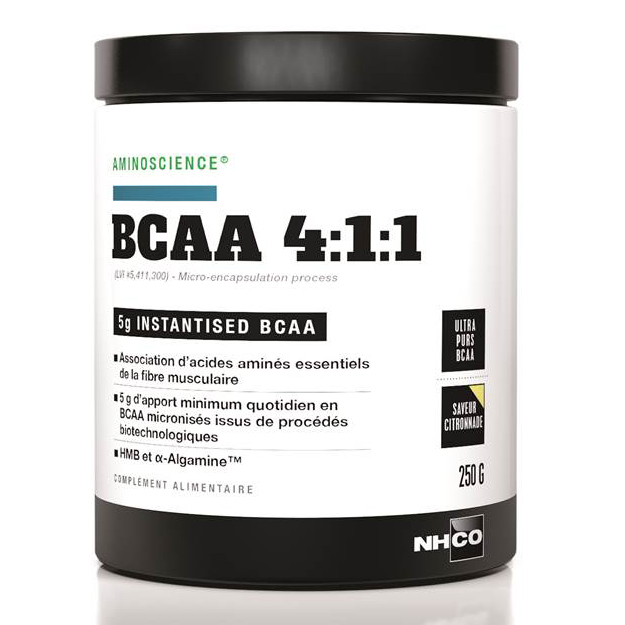 acides amin s nhco nutrition bcaa 4 1 1 citronnade citronnade pot de 250 g. Black Bedroom Furniture Sets. Home Design Ideas