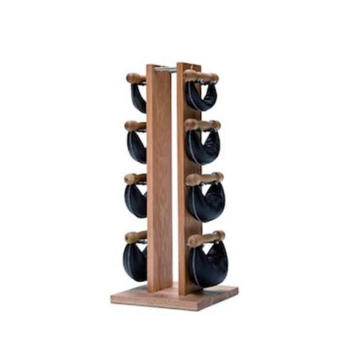 Haltères Tour Chêne avec poids cuir noir 1,2,4,6 kg