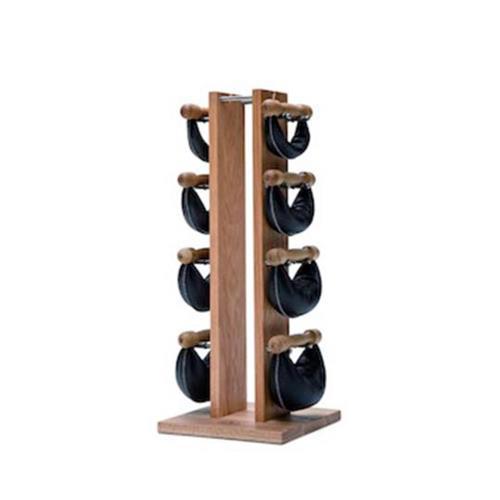 Haltères Tour Chêne avec poids cuir noir 2,4,6,8 kg