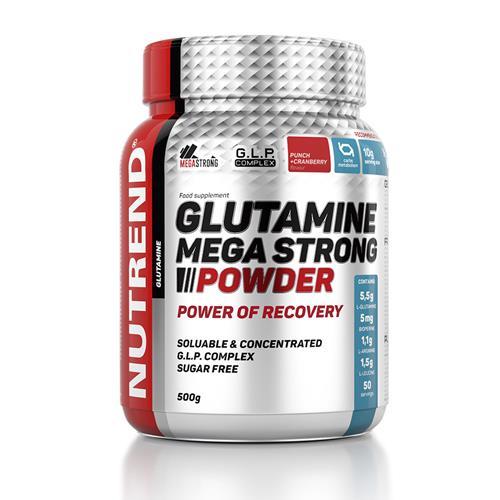 L-glutamine Nutrend Glutamine Mega Strong Powder