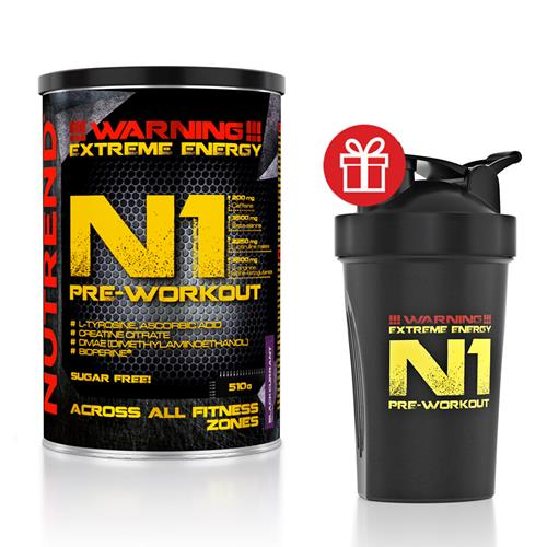 pre workout Nutrend Pack N1 Pre WorkOut Shaker N1
