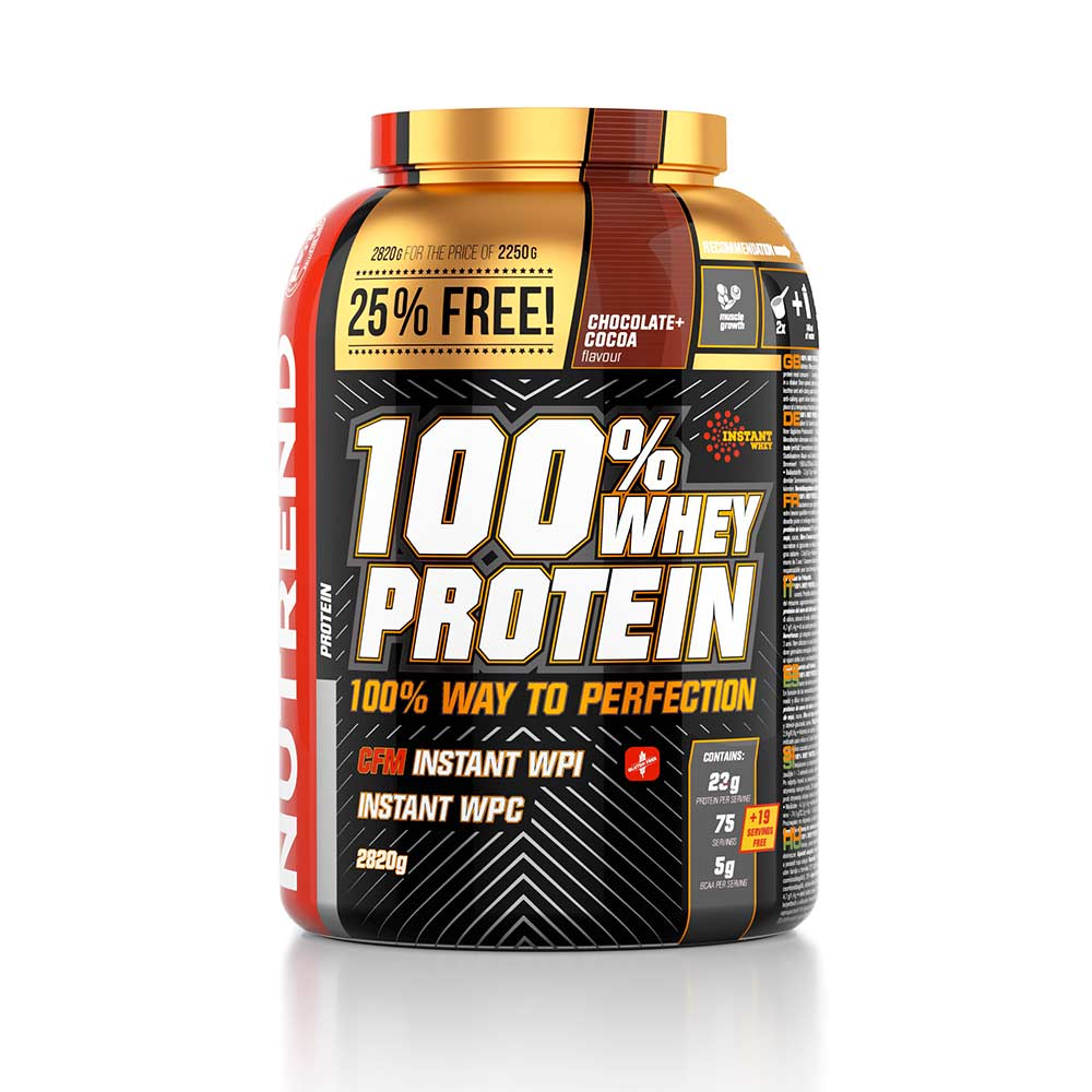 Protéines Nutrend 100% Whey Protein 25% FREE