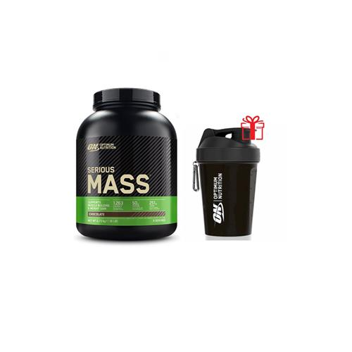 Prise de masse Optimum nutrition Pack Serious Mass + Shaker Offert