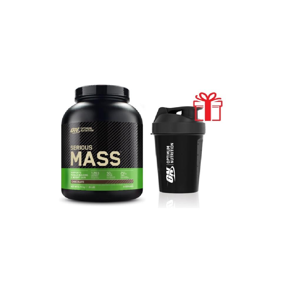 Optimum nutrition Pack Serious Mass + Shaker 600 ml Offert