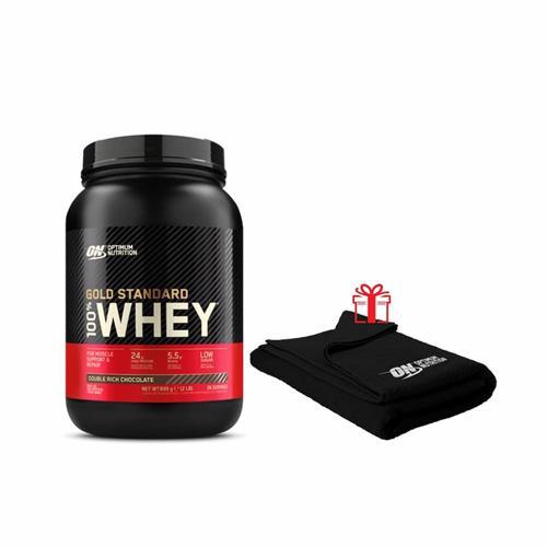 Whey Protéine Optimum nutrition Pack Gold Standard 100% Whey + Serviette ON offerte