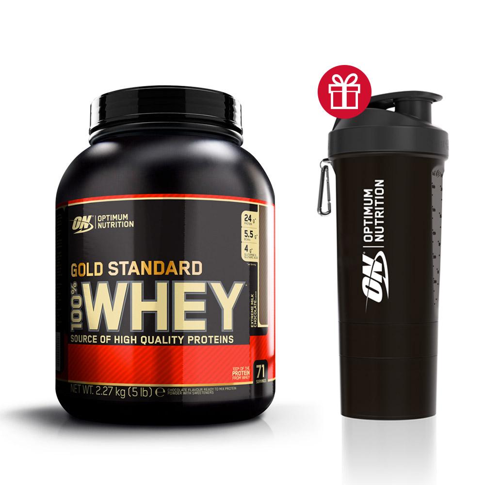 Optimum nutrition Pack 100% Whey Gold Standard Shaker ON