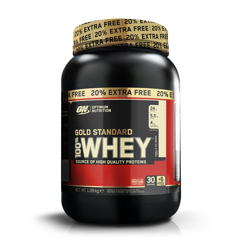 Optimum nutrition 100% Whey Gold Standard + 20% Gratuit