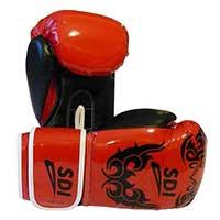 Gant de boxe Gants Boxe Sentoo Rouge 8 Oz